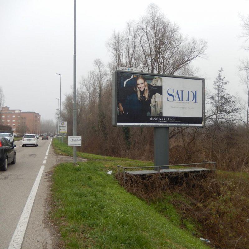 affissione cartellone STRADA LAGO PAIOLO Mantova